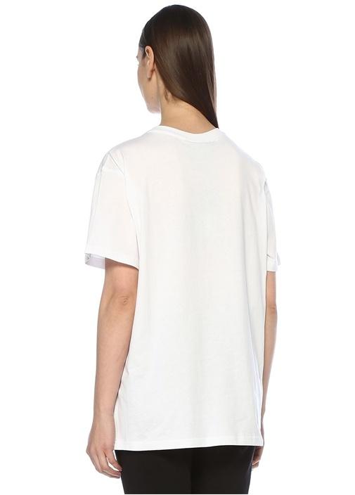 Boy London Beyaz Siyah Baskılı OversizeT-shirt