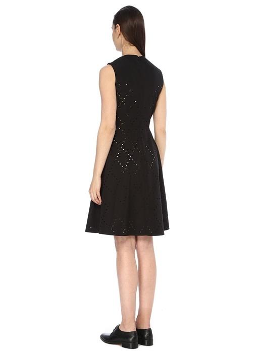 6 Moncler Noir Kei Ninomiya Siyah Midi Elbise