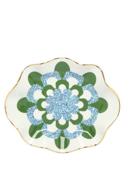 Mosaico Beyaz Baskılı Seramik 2li Tabak