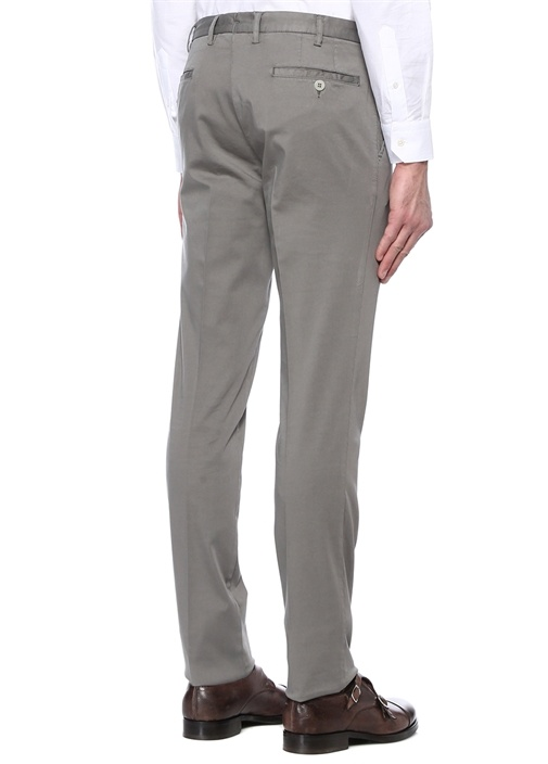 Gri Normal Bel Kanvas Pantolon