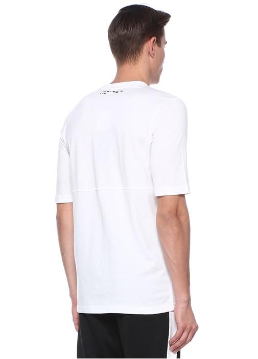 Epoch Beyaz Bisiklet Yaka Logolu T-Shirt