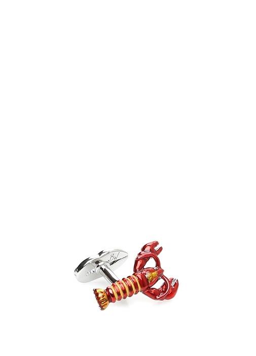 Kırmızı Silver İstakoz Formlu Kol Düğmesi