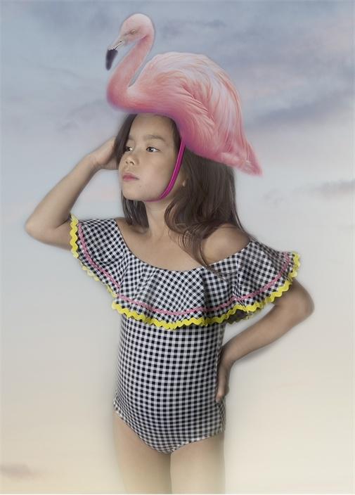 Wedelia Pötikareli Volan Detaylı Kız Çocuk Mayo