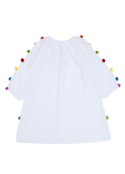 Bab Beyaz Yakası Bağlamalı Kız Çocuk Kaftan