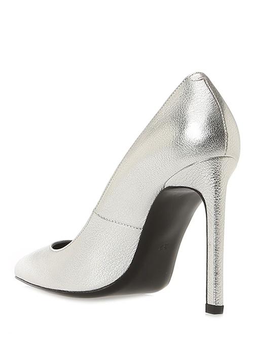 Silver Deri Topuklu Ayakkabı