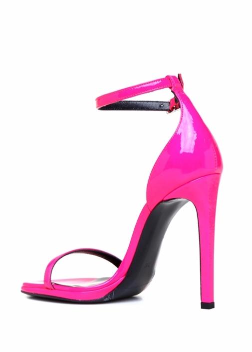 Neon Fuşya Kadın Rugan Sandalet