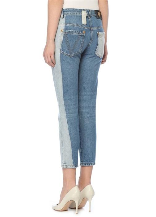 Mavi Normal Renk Detaylı Jean Pantolon
