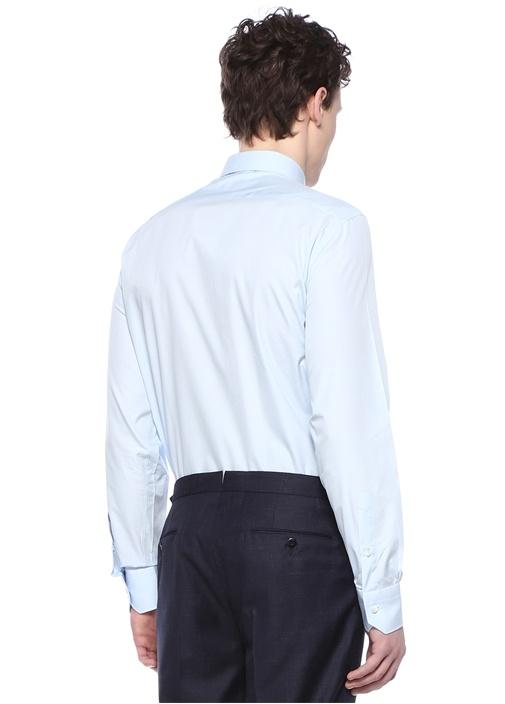 Drop 6 Mavi İngiliz Yaka Gömlek