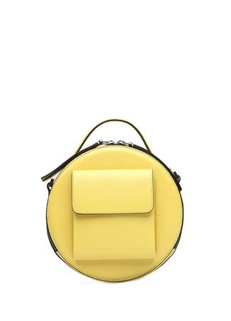 Baa Kadın Lotte Sarı Deri El Çantası EU