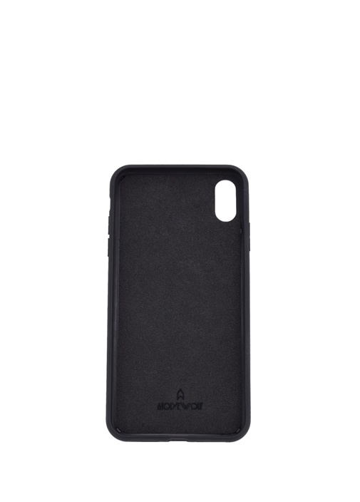 Siyah Dokulu iPhone XS Max Deri TelefonKılıfı