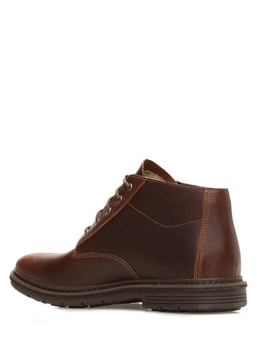 NaplesKahverengi Logolu Erkek Deri Ayakkabı