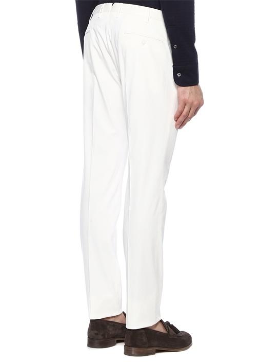 Tight Fit Beyaz Yüksek Bel Pantolon