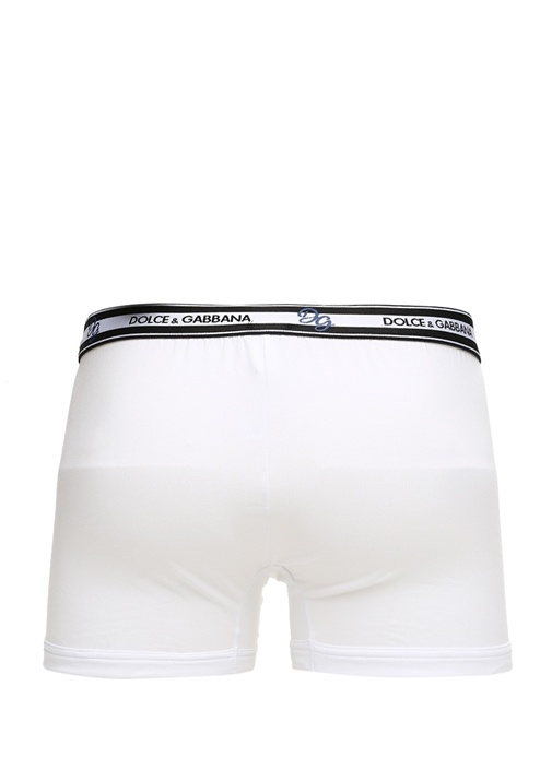 Beyaz Logolu Erkek Boxer