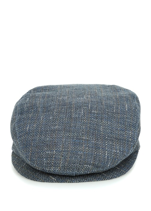 Mavi Dokulu Erkek Keten Şapka