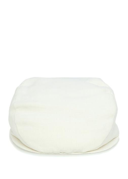 Beyaz Erkek Keten Şapka