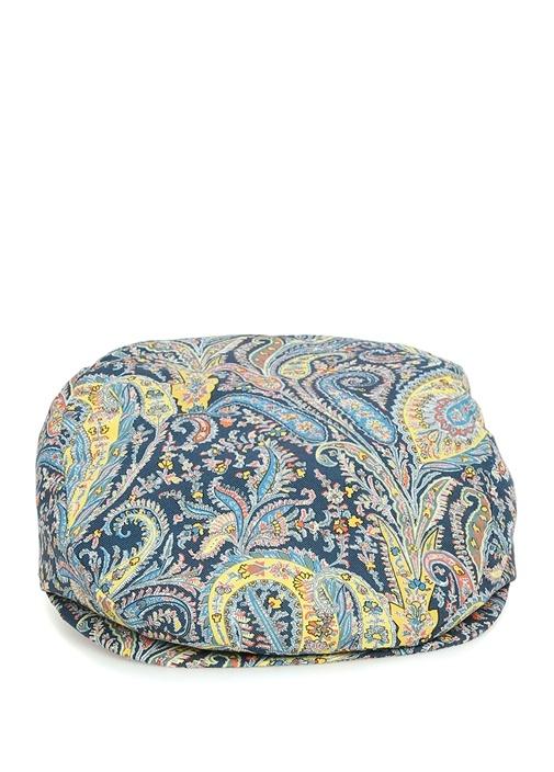 Lacivert Şal Desenli Erkek Şapka