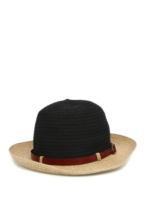 Lacivert Bej Hasır Doku Detaylı Erkek Şapka