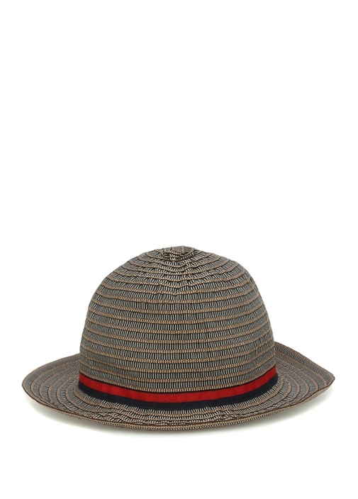Kahverengi Kemer Detaylı Erkek Şapka
