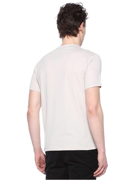 Tonic Gri Bisiklet Yaka Logolu Basic T-shirt