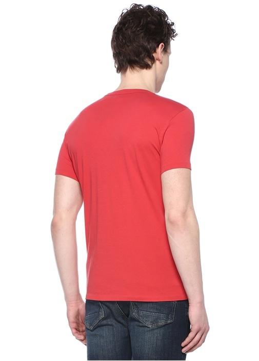 Tonic Kırmızı Bisiklet Yaka Logolu Basic T-shirt