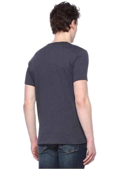 Tonic Lacivert Logo Nakışlı T-shirt