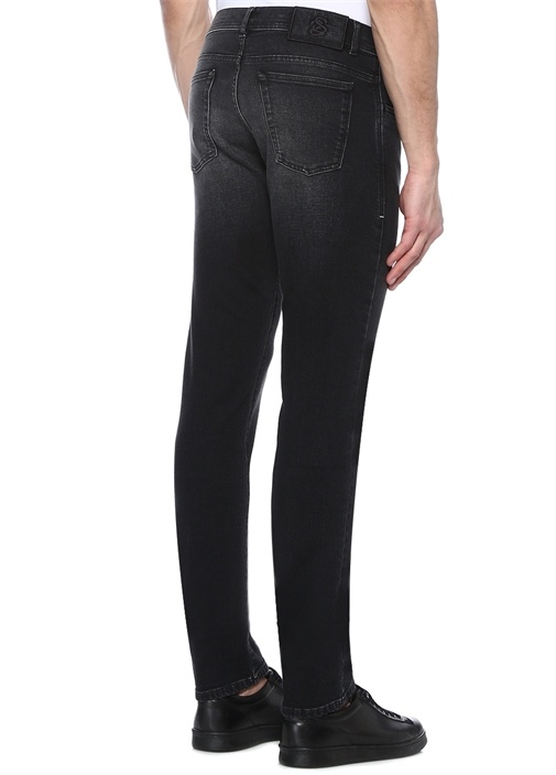 Augusto Siyah Normal Bel Jean Pantolon