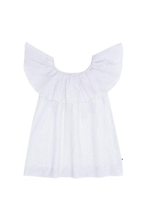 Reece Pembe Yakası Fırfırlı Simli Kız Çocuk Bluz
