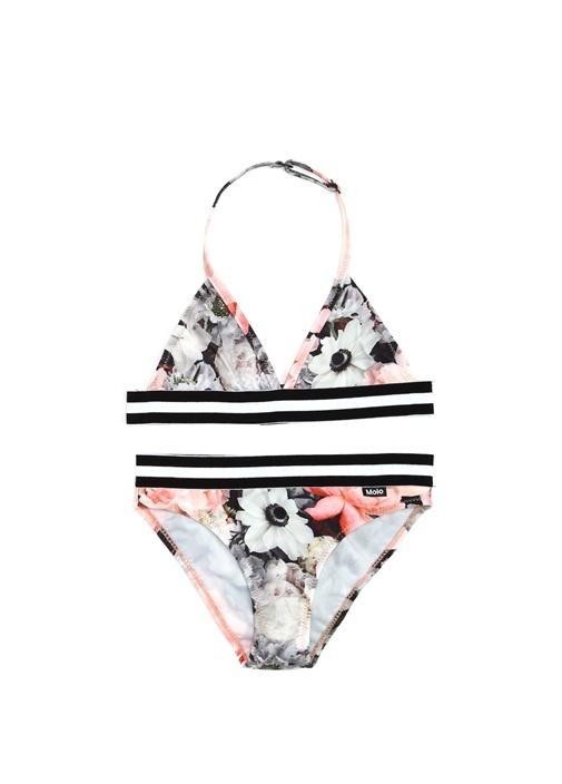 Nicoletta Çiçek Baskılı Kız Çocuk Bikini Takımı