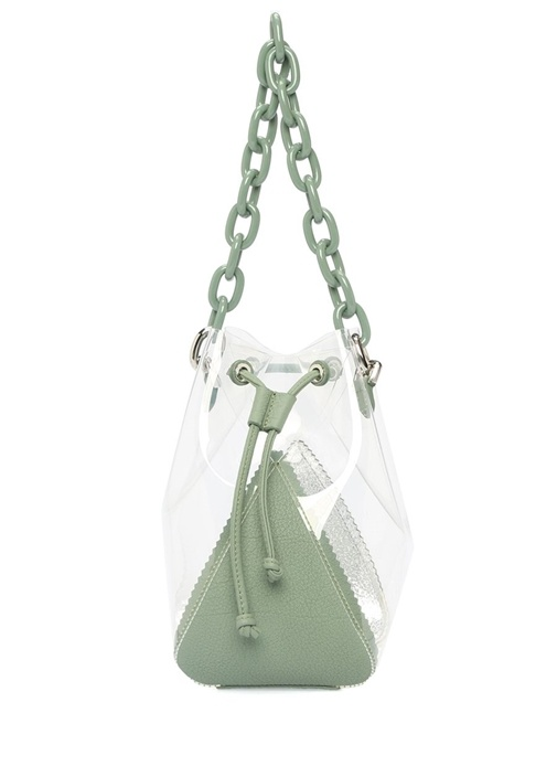 Mani C Mini Haki Kadın Transparan Çanta