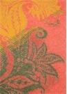 Kırmızı Çiçek Desenli Püsküllü Yün Throw
