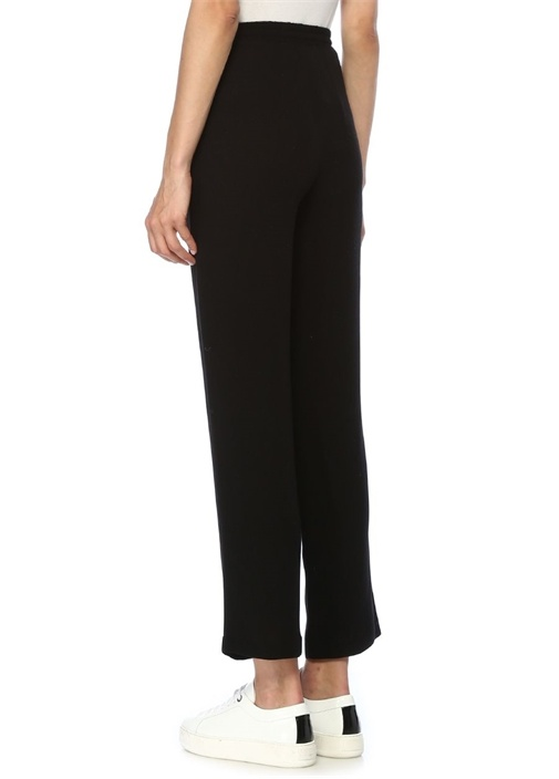Siyah Beli Bağcıklı Pijama Pantolon
