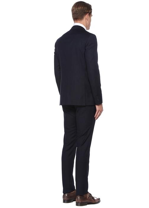 Drop 7 Lacivert Mikro Kareli Yün Takım Elbise