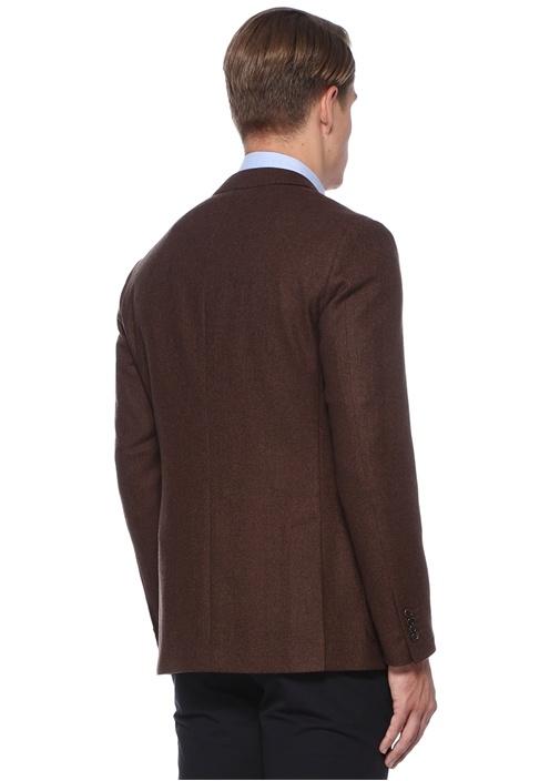 Drop 8 Kahverengi Dokulu Yün Ceket