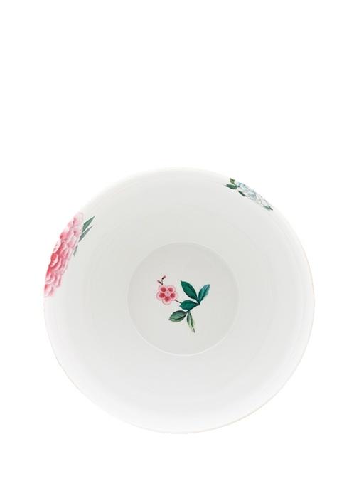 Blushing Birds Çiçek Desenli Porselen Kase