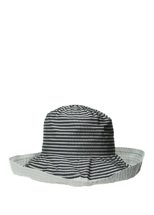 Gri Çizgi Dokulu Erkek Şapka