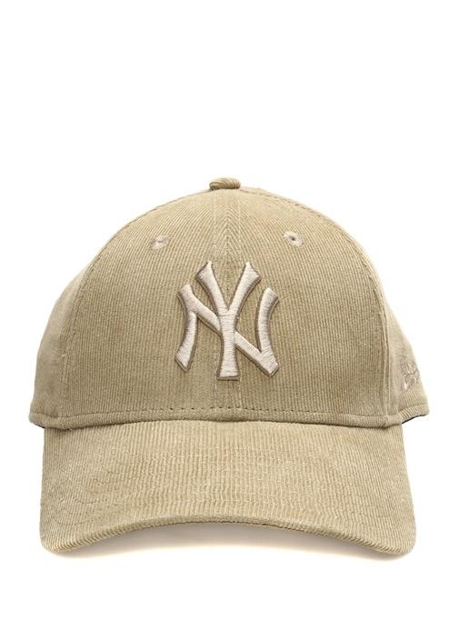 New York Nakışlı Bej Erkek Şapka