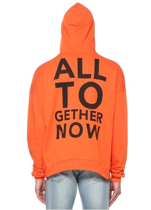All Together Now Turuncu Kapüşonlu Sweatshirt