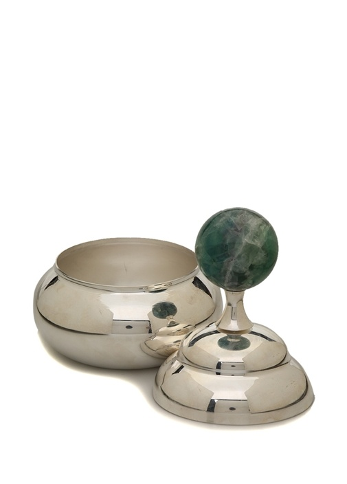 Silver Florit Taş Detaylı Kapaklı Çerezlik