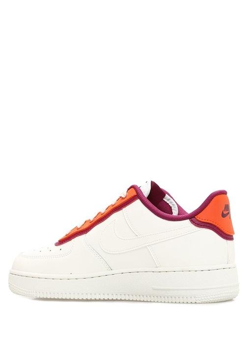 Air Force 1 07 Beyaz Mor Kadın Deri Sneaker