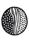 Polka Dots Siyah Beyaz Kadın Plaj Havlusu