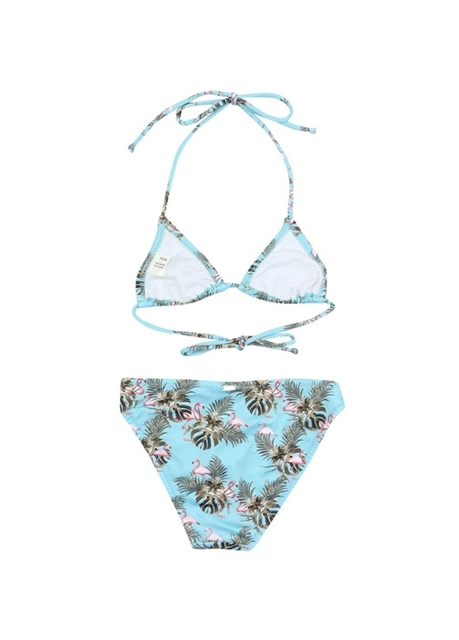 Miami Vice Mavi Baskılı Kız Çocuk Bikini Takımı