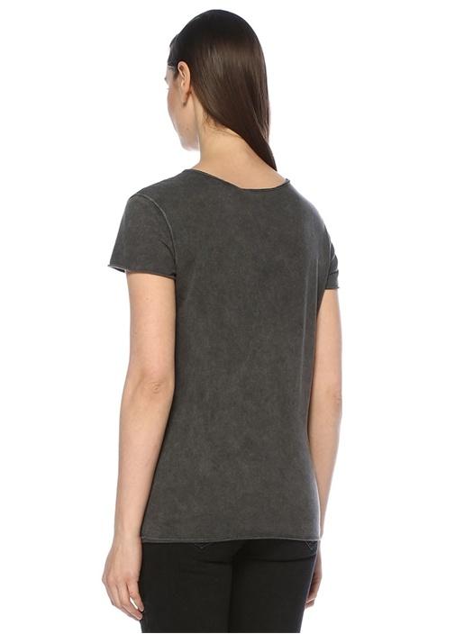 Emelyn Budan Antrasit V Yaka T-shirt