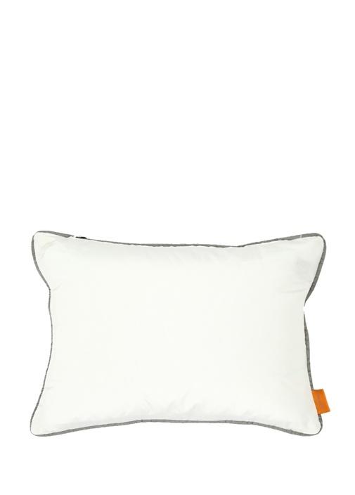 Beyaz Etnik Desenli 30x40 cm Dekoratif Yastık