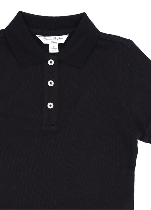 Lacivert Polo Yaka Kıvrım Detaylı ÇocukT-shirt