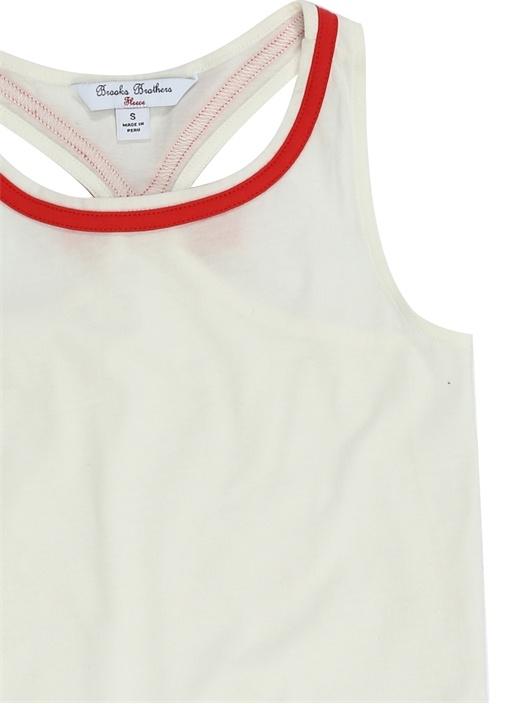 Beyaz Fiyonk Detaylı Unisex Çocuk T-shirt
