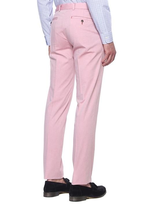 Pembe Normal Bel Dar Paça Pantolon