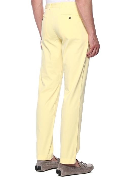 Sarı Boru Paça Kanvas Pantolon