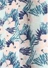 Mavi Pembe Çiçek Desenli Kadın Şal