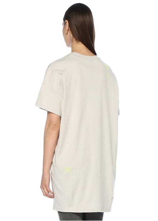 Shozuka Gri Arkası Uzun Oversize T-shirt