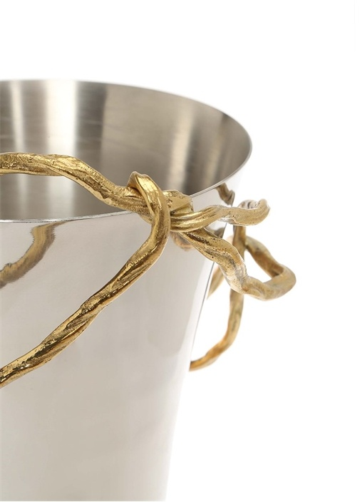 Wisteria Gold Large Dal Detaylı Vazo
